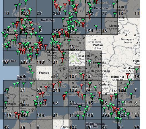 Покрытие сети AIS-станций в Европе
